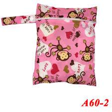 Pororo 20*25CM Single Pocket <b>Baby</b> Wet Bag <b>Fashion Prints</b> Diaper ...