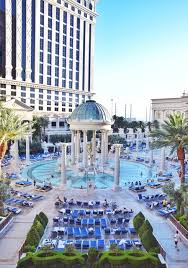 view of the las vegas temple pool