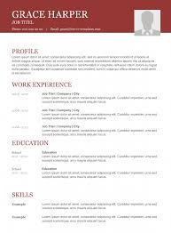 Professional Cv Format Download Basic Cv Templates For Word Land The Job With Our Free