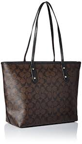 Buy Coach Signature City Zip Tote - Brown Black Online at Low Prices in  India - Amazon.in