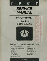 chrysler fwd manuals at books4cars com Basic Electrical Wiring Diagrams 87 fwd electrical fuel & emissions shop service repair manual for chrysler plymouth & dodge for shadow sundance lancer caravelle reliant daytona lebaron new