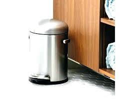 metal kitchen trash can metal kitchen trash can stainless steel black bathroom toiletry garbage shed vintage