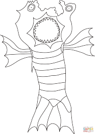 Small Picture Monster coloring page Free Printable Coloring Pages