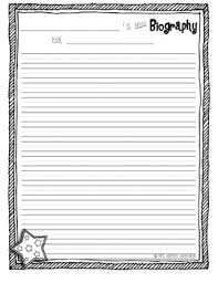 mini biography organizer writing paper by jessica heeren tpt mini biography organizer writing paper