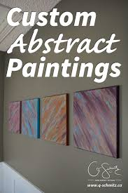 Have you ever painted your own artwork for your home? Anyone can create  custom abstract