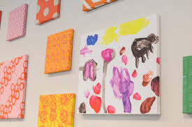 Home Interior:Cute Diy Kids Craft Canvas Wall Art Square Colorful Canvas  Wall Art Homemade