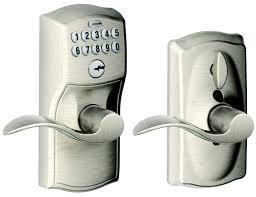 Schlage Lock FE595V CAMACC 61 Camelot Accent Satin Nickel Keypad