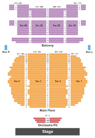 Fred Kavli Theatre Detailed Seating Chart Billets Chicago The Band Superbillets