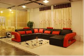 red and black furniture. free shipping furniture sofa classic black and red genuine leather large size u shaped couches living room corner sofas t