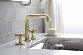 Brass Bathroom Faucet Discover Highgate Low Profile Three Hole Deck Mounted Lavatory In