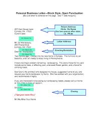 Business Letter Format Resume Cv Cover Letter