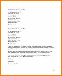 Thanks For Offer Letter Sample Job Offer Thank You Letter Thanks For Hiring Me Decline 1