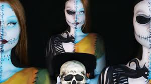 nightmare before jack and sally makeup tutorial