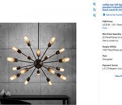 sputnik chandelier for 99 dollars from china