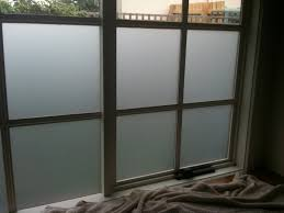 opaque glass for window with wooden frame and painted with white color ideas