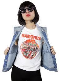 Rock N Roll Jeans Size Chart Ramones Rock N Roll High School Girls T Shirt