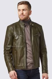 sd men s sr 02 green cool retro biker style motorcycle real lamb leather jacket