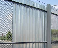 corrugated metal fence panels outdoor decorations steel privacy ction how to build a sheet medium size