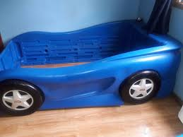 Little Tikes Twin Size Bed Blue Race Car (Michigan)