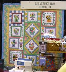 NQA Show: Beautiful Quilts, Great Buttons, Munchies and More ... & Quilt on display at Quilt Beginnings. Adamdwight.com