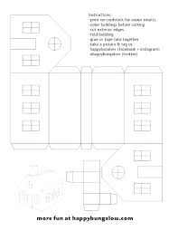 Printable Paper House Template Gotostudy Info