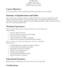 General Objective For Resume Career Examples Objectives