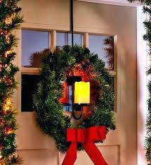 large lighted xmas wreaths outdoor wreath garland best of timer outside hanger over door decorative candles