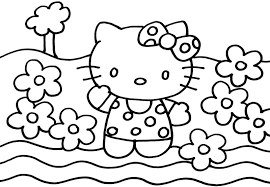 Hello Kitty Coloring Sheets To Print Printable Coloring Page For Kids