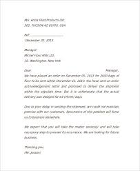 Complaint Letter For Delay In Delivery Of Goods New Apology Letter ...