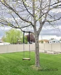 Tree Swing Super Easy Diy Tree Swing Sawdust Sisters
