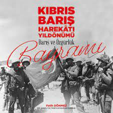 """Uživatel Fatih Dönmez na Twitteru: """"Kıbrıs Barış Harekatı'nın 46. yıl  dönümünü ve 20 Temmuz Barış ve Özgürlük Bayramı'nı en içten dileklerimle  kutlarım. Tüm şehitlerimizi rahmet, gazilerimizi saygıyla anıyorum.…  https://t.co/k1BBIlDxxX"""""""