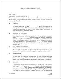 Family Loan Template Bank Loan Agreement Personal Loan Agreement Template Between Family