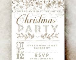 Printable Christmas Party Invitation - Christmas Invitations, Rustic Christmas  invitation, Gold Christmas invitation