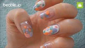 指先からふんわり春気分色花柄アレンジでつくる春ネイル見本