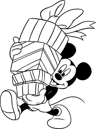 Disney Christmas Printable Coloring Pages Mickey