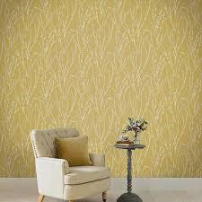Floret Mustard Wallpaper