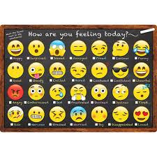 Smart Emoji How You Feeling Chart Dry Erase Surface