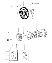 2010 chrysler town and country engine diagram lovely crankshaft crankshaft bearings d er flywheel and flexplate
