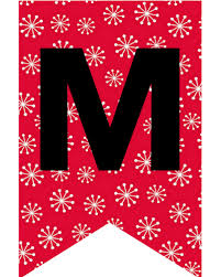 Merry Christmas Letter Banner Printable Magdalene Project Org