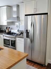 Refrigerator In The Kitchen Amusing Over Cabinets With Double Remodel On  Layout Best Home Decoration