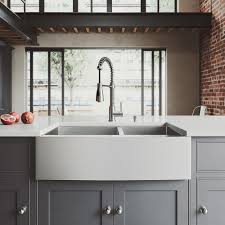 all in one farmhouse a front 33 in double bowl kitchen sink in