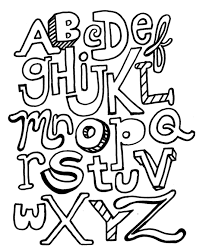 Alphabet Coloring Pages Printable Abc Letters Alphabet Coloring