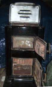 Emaille Guß Ofen Holz Kohle Herd Wohnraum Ofen