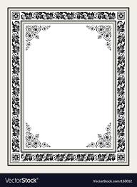 antique ornate frame vector image