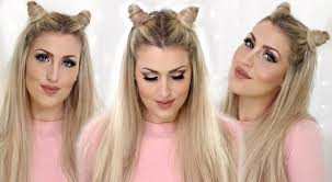 Cat Hair Style How To Khloe Kardashian Hair Horns Cat Ears Hair Tutorial Youtube 8831 by wearticles.com
