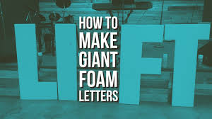 how to make giant styrofoam letters