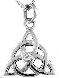 white gold genuine diamond 03cts celtic knot pendant necklace