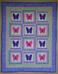 252 best Butterfly Applique Quilts / Patterns images on Pinterest ... & Baby Quilt PATTERN Girl PDF Butterfly Quilt by pixieharmony, $5.95 Adamdwight.com