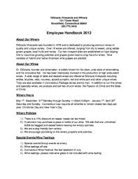Sample Employee Handbooks Vineyard Employee Handbook Fill Online Printable