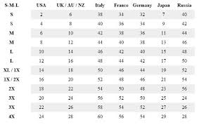 Womens Clothing Size Conversion Chart Clothes For Women